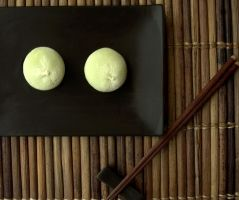 Green Tea Mochi by Vespaholic
