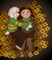 Idk a Chara being gay or whatever by Channydraws