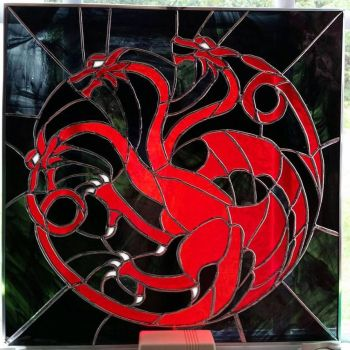 House Targaryen Stained glass by Triforce759