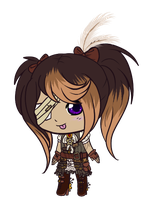 Chibi Steampunk girly by KurosuAi