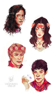 Merlin Flower Sketches by StarshipSorceress