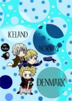 APH: 3 Nordics and Puffin by AnimeWaterFall
