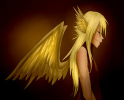 Golden wings by Brixyfire