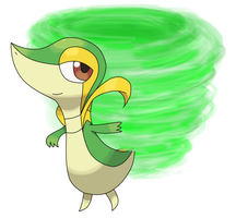 Snivy by sicklequill8384