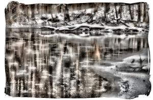 Ice On The Looking Glass River by mdandree
