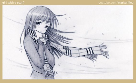 Girl with a Scarf by markcrilley