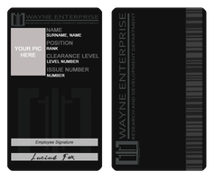 Wayne Enterprise - ID Card by LJ-Todd