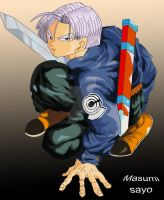 Mirai Trunks colored by masumi-sayo