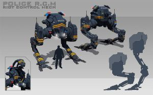 Mech model sheet final (timelapse) by rickystinger88