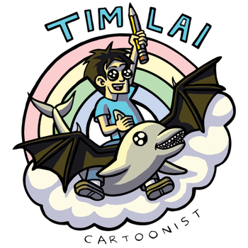 Me Riding A DOLPHIN WITH BATWINGS! by timlai