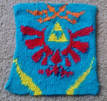 Knitted Legend of Zelda Hyrule Warriors Crest by Cogsie