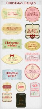 Christmas Badges/Cards by stefusilviu