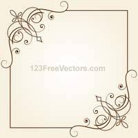 Vintage Floral Ornament Frame Vector Graphics by 123freevectors
