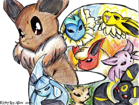 Elements of Eeveelution by KirbySuperStar96