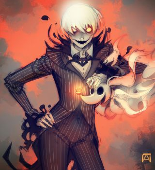 Anime Jack Skellington by Pechan