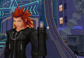 Axel and Saix by oOKira97Oo