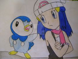 Dawn and Piplup by AJLeefan4life