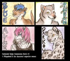 CF Commissioned Badges Batch 1 by Kitsune--Rin