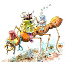 Working Class Bug: Fire Ant by Jcoon