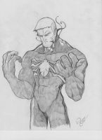eddie brock sketch by Bringerzero