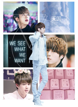 I made an aesthetic of Jin for a friend.. by Splotck