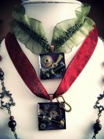 chokers steampunk preview by Verope