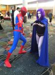 Spider-Man and Raven by fireemblemspider