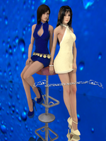 A Ladies Thing - Tifa and Rinoa by NightysWolf