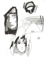 Madara, Itachi and Sasuke Uchiha by victorhvicente