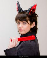 Crimson Wolf Ears by SIN-BIN