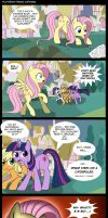 Fluttershy Reads Cupcakes by Musapan