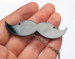 Mustache Necklace Acrylic by milkool