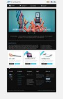 Dreamtronics web layout by VoidGFX