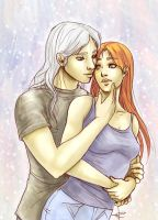 Sealed with a kiss _ Duncan and Chloe _ by RayNoir