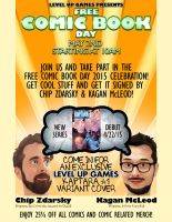 Free Comic Book Day 2015 poster by Marazzo