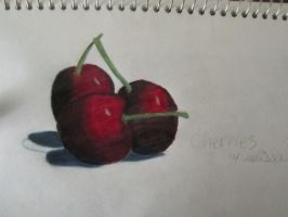 Realistic Cherries a gift for my watchers :D by Spring-violet1