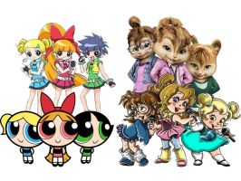 PPG's vs The Chipettes by Jeanettechipettedoll