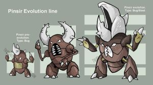 Pinsir Evolution Line by Twarda8