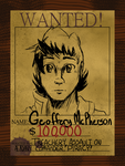 Geo's Wanted poster by jadethemobian