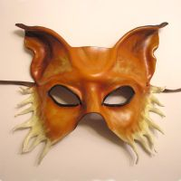 Fox Leather Mask... Half Face by teonova