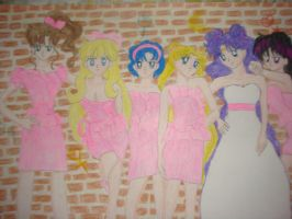 Bridesmaids Sailor Moon style by silvermoonmagic