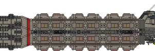 Colonial Military Munitions Freighter by Kelso323