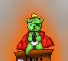 Killer King Teddy In a Box (digital color) by TheDrawingManga