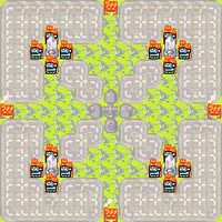 4-Way Advance Wars Map by Orochidragon5