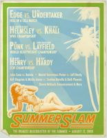 Vintage SummerSlam Poster by Lazer27