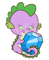 Spike_Chibi Charm Design by pinkplaidrobot