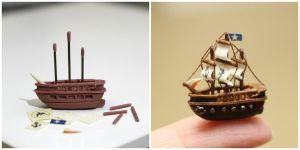1 inch sailing ship by minivenger