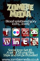 Zombie Media - Bloody Icons by zombiemedia75