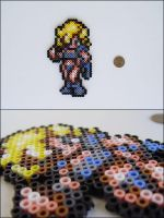 Chrono Trigger Ayla (standing) bead sprite by 8bitcraft
