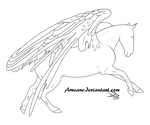 Andalusian Peggie Lineart by Arucane
